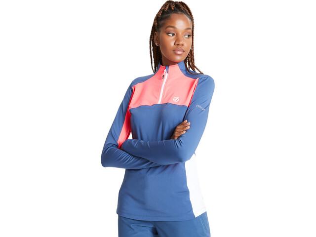 Dare 2b Default Core Stretch Shirt Women dark denim/neon pink/white